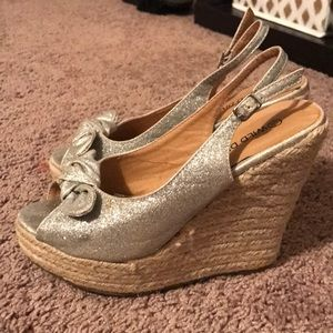 Wild Diva Shoes - Sparkle wedge